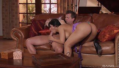 Latina milf rides hard after a sensual blowjob