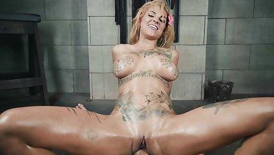 Tattooed bitch in merciless fuck scenes during POV domination