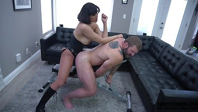 Horny Penny Barber definitely knows how to use a sex toy with her friend