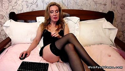 Big ass Milf in the air stockings beyond webcam