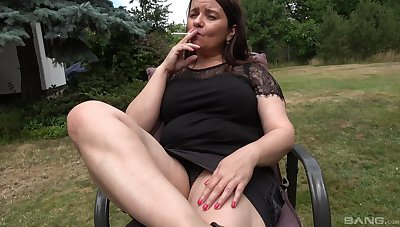 Fake dildo wise old cunt of amateur fat granny involving saggy breast