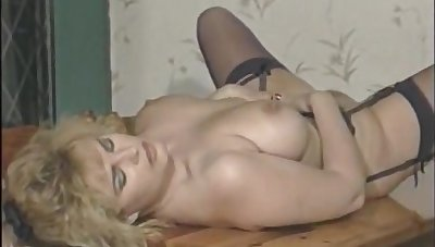 Full-Bosomed Brit Stardom Karen Partington Masturbates