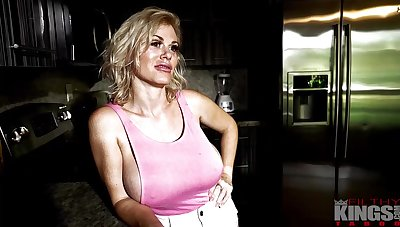 Casca Akashova is a big titted, blonde milf who likes to have sex from the back