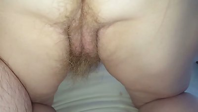 My wife doesn't like to shave her pussy and I love how her hairy pussy looks