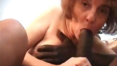 Hellacious GILF interracial porn video