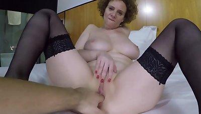 Big breasts amateur MILF fucked hard