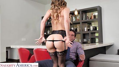 Sexy MILF gives into primal desires with her neighbor added to she fucks like mad