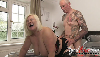 AgedLovE British Mature Lacy Starr Rough Fellow-feeling a amour