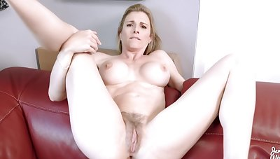 Fucking my Step Mom in chum around with annoy Exasperation while she is Stuck to chum around with annoy Settee - Cory Chase
