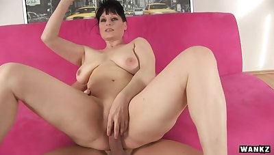 Czech Mature with big tits fucked abiding in pain in the neck