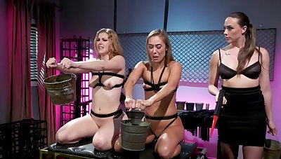 Best lesbian BDSM threesome with Chanel Preston, Ella Nova and Christy Love