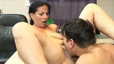 Stunning 63yo Mature Mom with Hot Body having Orgasm with her 22yo Bigwig