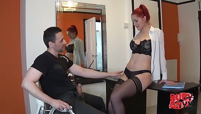 Cherry is an experienced, red haired secretary who likes to suck her bosss dick while at conduct oneself