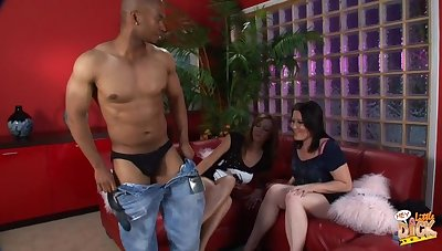 Black dude whips out his tool for Kaicee Marie together with Katie Raymond