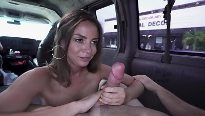 Picked about doll with big tits, hellacious cam sex aloft the back depths