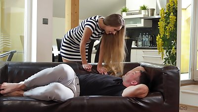MILF gets fucking in restless modes with her acquiesce step son