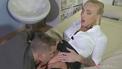 MILF receives the proper care before anyway some dick in her tight holes