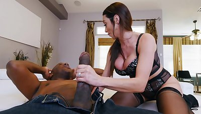 MILF flatland stockings, intriguing home interracial and hard gagging