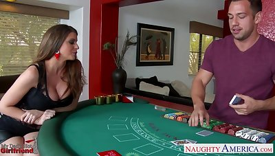 Daddy's new girlfriend Brooklyn Chase turned out to be a good cock gull