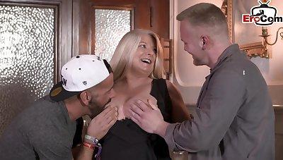 German bbw chunky mom with bg titties threesome