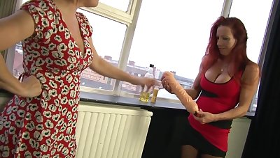 Marvelous Wendy knuckles and tastes the brush mate