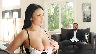 Slutty French maid Anissa Kate takes it hard in hammer away tushy