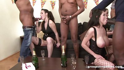 Bitches acquire blacked during sexual party