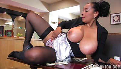 Big buttocks MILF Danica Collins moans while fingering her wet cunt