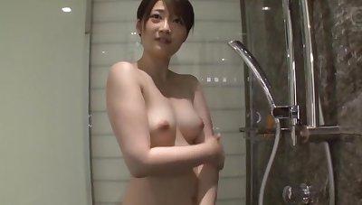 Retarded Japanese tot Ikishima Ryou moans while acquiring fingered