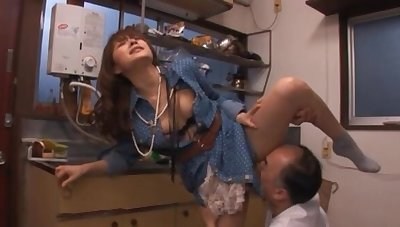 Foxy Asian MILF Mihiro sucks his dick plus gets their way ass licked
