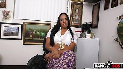 Latina escort tries porn