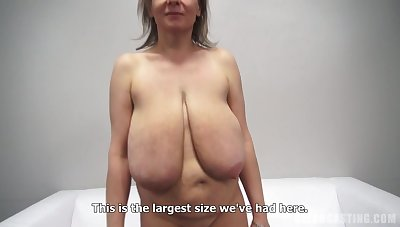 Alena mature with spacious saggy tits in amateur hardcore wih blow