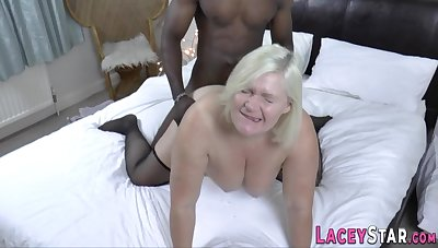 Full-Breasted Gilf Lacey Starr Interracial Porn
