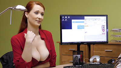 Big-Boobed red-haired mature have directly intercourse for money